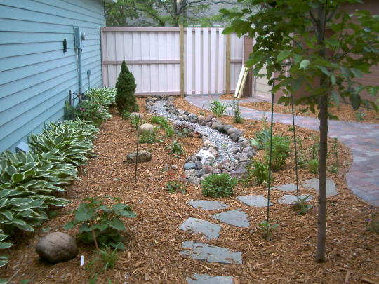 Drain Tile And A French Drain Combined Add A Natural Look For The Smaller  Garden Yard With A Flat Grade. Here We Were Able To Dry Up A Wet Location  And Add ...