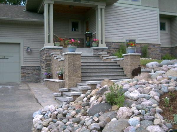 Steps Paver And Retaining Wall Block